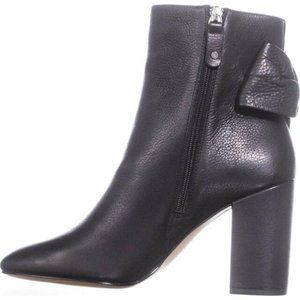 NIB Avec Les Filles Black leather Ankle Booties